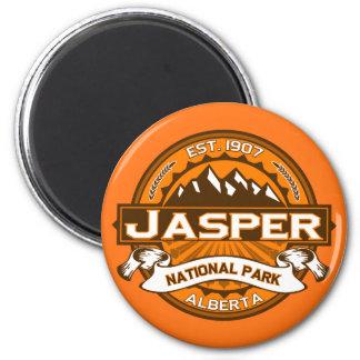 Jasper National Park Logo 6 Cm Round Magnet