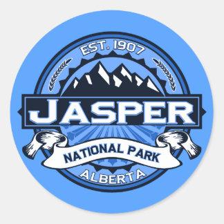 Jasper National Park Logo Classic Round Sticker