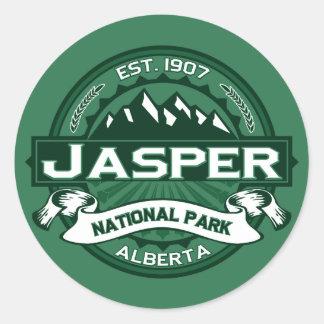 Jasper National Park Logo Round Sticker
