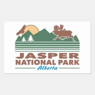 Jasper National Park Moose Rectangular Sticker