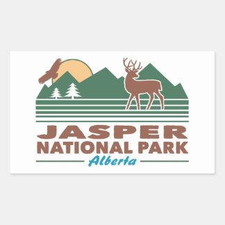 Jasper National Park Mule Deer Rectangular Sticker