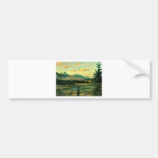 Jasper National Park River with mountain view Bumper Sticker