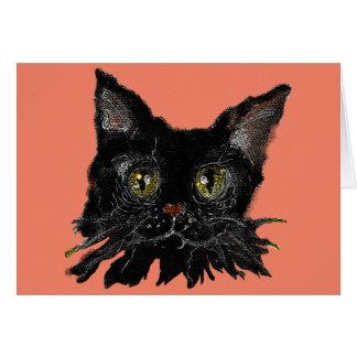 JASPER -your HALLOWEEN Black Cat Card