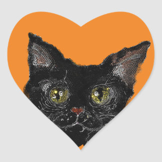 JASPER -your HALLOWEEN Black Cat Heart Sticker