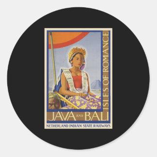 Java and Bali Isles of Romance Stickers