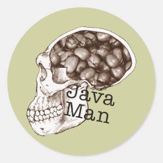 Java Bean Man Round Sticker