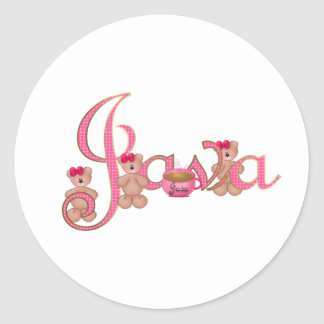 Java bears round sticker