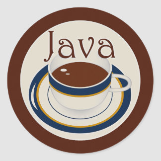 Java Classic Round Sticker