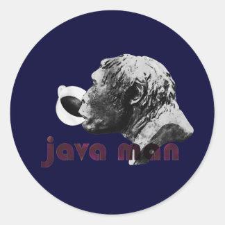 Java Clay Man Round Sticker