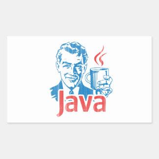 Java Programmer Gift Rectangular Sticker