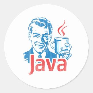 Java Programmer Gift Round Sticker