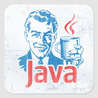 Java Programmer Square Sticker