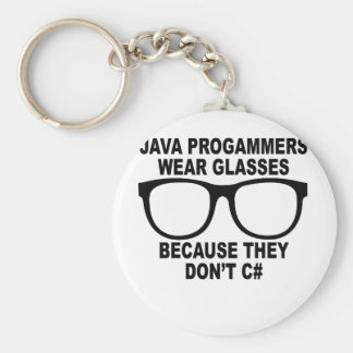 Java programmers don't C# T-Shirts.png Key Ring