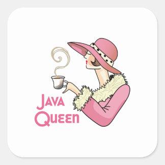 Java Queen Square Sticker