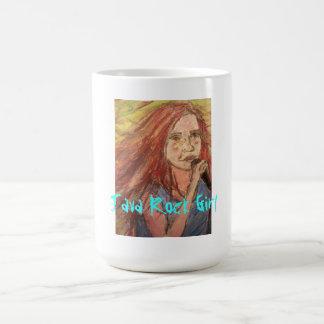 java rock girl basic white mug