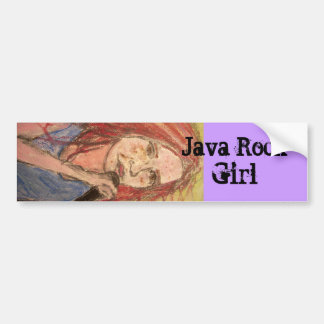 java rock girl bumper sticker
