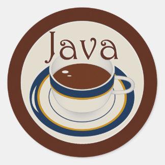 Java Round Sticker
