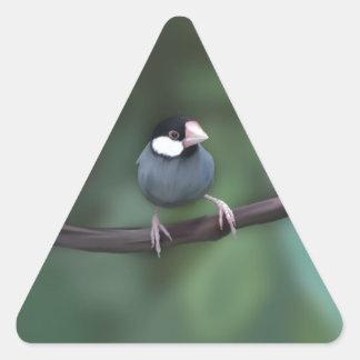 Java Sparrows Triangle Sticker