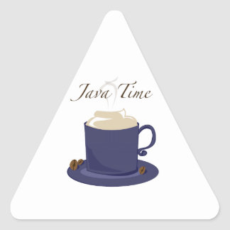 Java Time Triangle Stickers