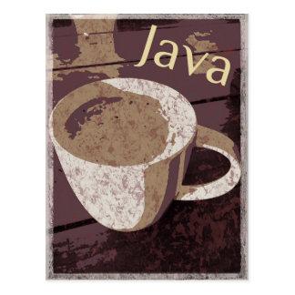 Java Vintage Postcard