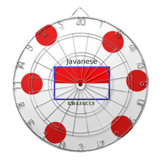 Javanese Language And Indonesian Flag Design Dartboard