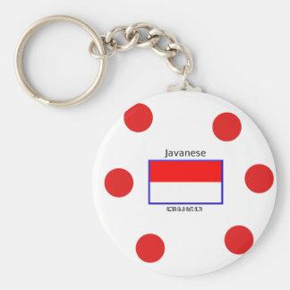 Javanese Language And Indonesian Flag Design Key Ring