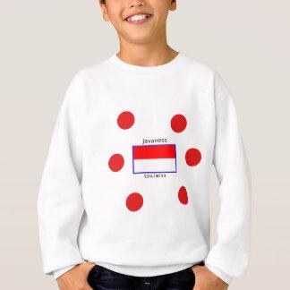 Javanese Language And Indonesian Flag Design Sweatshirt