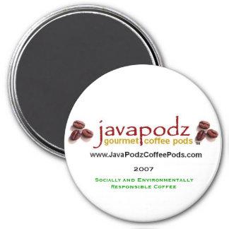 "JavaPodz Collectible ""Green"" 2007 Refrigerator Mag 7.5 Cm Round Magnet"
