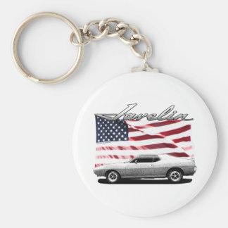 Javelin AMX muscle car Basic Round Button Key Ring