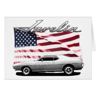 Javelin AMX muscle car Greeting Card