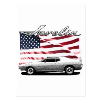 Javelin AMX muscle car Postcard