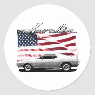 Javelin AMX muscle car Round Sticker
