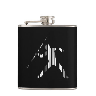 JAVELIN BAR CODE Sports Track and Field Pattern Hip Flask