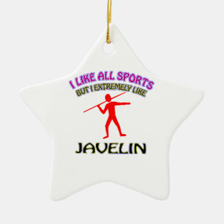 Javelin designs ceramic ornament