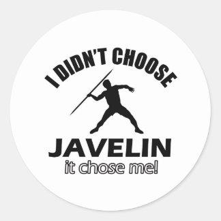 JAVELIN DESIGNS CLASSIC ROUND STICKER