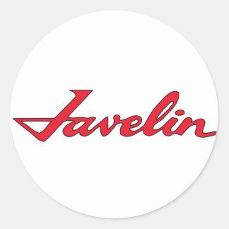 Javelin Emblem Round Sticker