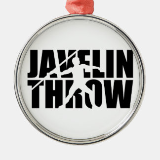 Javelin throw metal ornament