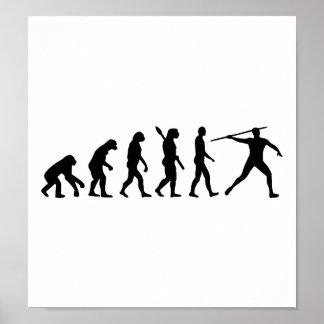 Javelin thrower evolution poster