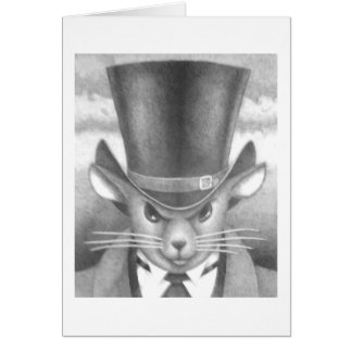 """""""Javert Mouse"""" from """"Les Mouserables"""" Card"""
