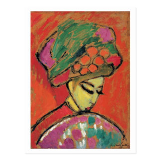 Jawlensky Young Girl with Flowered Hat Fine Art Postcard