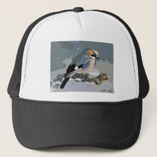 Jay Bird In Winter Trucker Hat