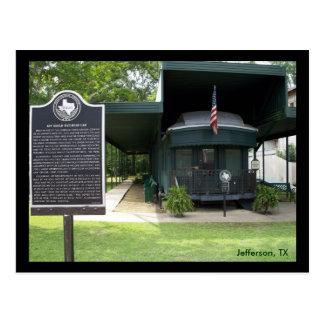 Jay Gould's Railroad Car Postcard