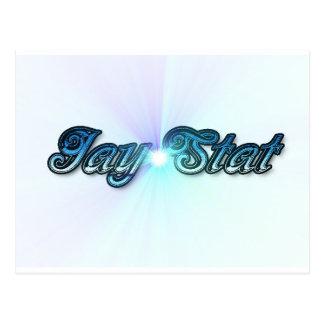 Jay Stat Blue Postcard