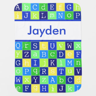 Jayden's Personalized Blanket Swaddle Blankets
