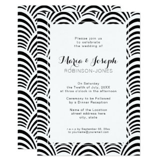 Jazz Age Art Deco Elegance Black and White Card