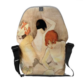 Jazz Age ~ Girls In The Dressing Room Messenger Bags