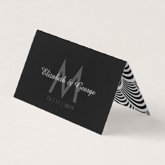 Jazz Age Palm Frond Art Deco Wedding Table Place Card