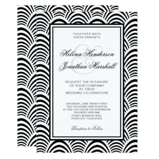 Jazz Age Roaring Twenties Art Deco Wedding Card