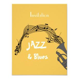 Jazz Party Themes Invitations Announcements Zazzle Au