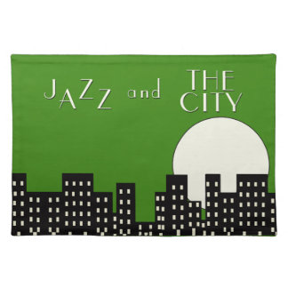 Jazz and the City (green) Placemat
